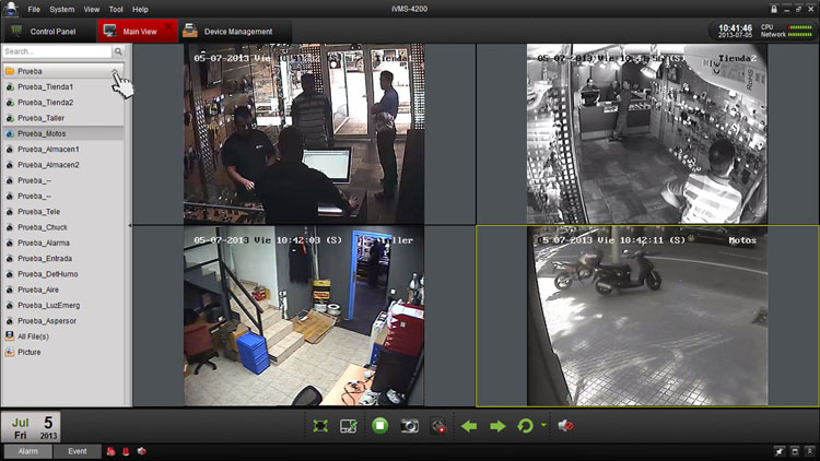 نرم افزار Ivms 4200 انتقال تصویر هایک ویژن دوربین مداربسته