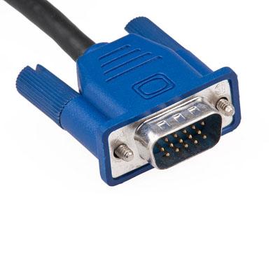 رابط_VGA,نمایش تصویر,تصویری از یک رابطه VGA متداول